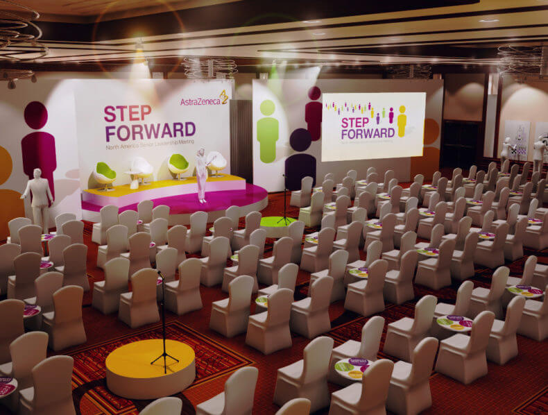 Step Forward – Exhibition Visualisation