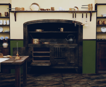 19th Century 3D kitchen study