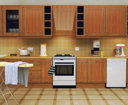 20th Century 3D kitchen study