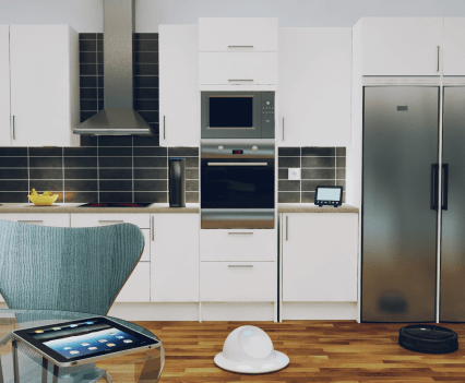 21st Century 3D kitchen study